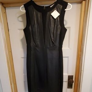 NWT Halogen Leather/Wool Dress size 4